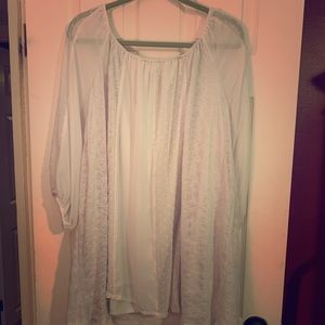 Mint Sheer Top with Underlay